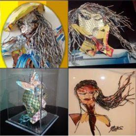 AponteSierra's Paper Manipulation Fine Art pieces.