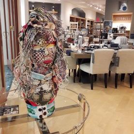 AponteSierra's Paper Manipulated Fine Art Piece at Williams Sonoma Store in Palm Beach Gardens.